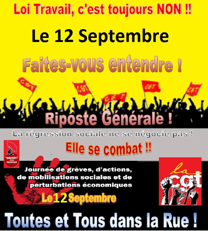 12 septembre mobilisation contre la loi travail xxl - A quoi sert le plafond de la securite sociale ...